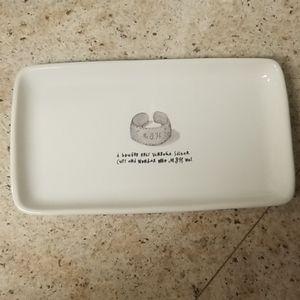 Rae Dunn Cuff Platter/ Tray